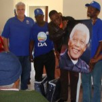 Legislature Leader Bobby Stevenson spent his 67 minutes on Madiba Day on 18 July at the Ikhaya Macnamee Old Age Home in Ward in Port Elizabeth, where they handed out blankets and refreshments.  With Stevenson is Robert Mose, Metro councillor Bobby Cekisani, Lulama Stout and Phila Qalinge.