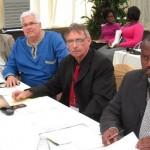 MPLs Nkosinathi Kuluta (Cope), Bobby Stevenson (DA), Pine Pienaar (DA) and Mandlenkosi Galo (AIE) at the week-long Legislature sitting in Alice.