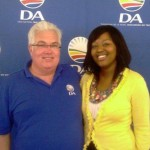 Bobby Stevenson, DA Leader in the Legislature and DA Youth Federal chairperson, Mbali Ntuli, at the recent Youth Congress in Boknes.