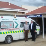 MPL John Cupido (right), on a visit to a rural hospital in the Eastern Cape last week.