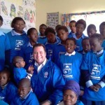 MPL John Cupido with learners of the Ethwembeni School in Queenstown for children with disabilities.