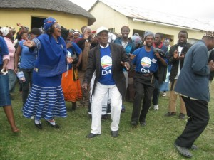 The Blue Wave is everywhere…MPL Veliswa Mvenya at Lwandile village, where 300 former ANC-supporters walked over to the DA after hearing the party's message.