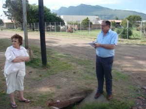 MPL Dacre Haddon during a recent visit to the Gariep municipality.
