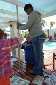 Veliswa Mvenya's team was the clear winner in the tower-building exercise at Port Alfred.