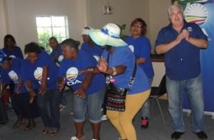 DA Leader in the Legislature, Bobby Stevenson (right) at a Freedom Day-event in Port Elizabeth.