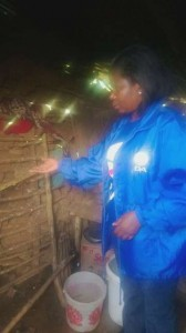 DA MPL Veliswa Mvenya inspects a leaking house in Lusikisiki.