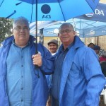 MPLs Bobby Stevenson and Edmund van Vuuren at the by-elections in Kouga Municipality on Wednesday, 27 November 2013.