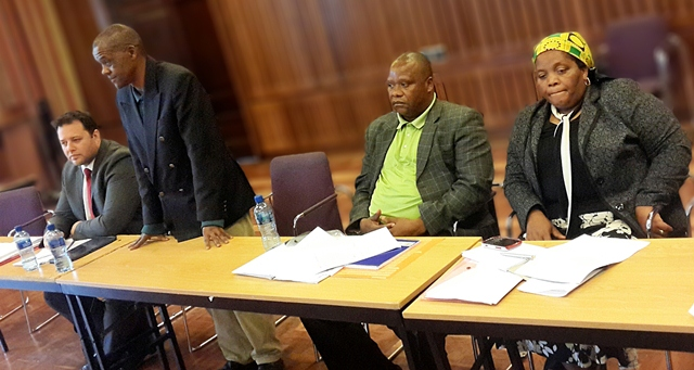 The Provincial Legislature is currently holding public hearings on various pieces of legislation, including the National Credit Amendment Bill and Restitution of Land Rights Amendment Bill.  On the far left is the DA's John Cupido, MPL, at a hearing in Port Elizabeth.