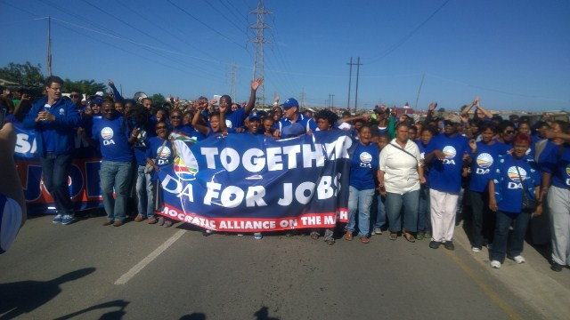 The DA campaigns for jobs in Kwazakhele in Port Elizabeth.