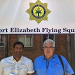 DA MPLs Marshall von Buchenroder and Bobby Stevenson, outside the offices of the Port Elizabeth Flying Squad.