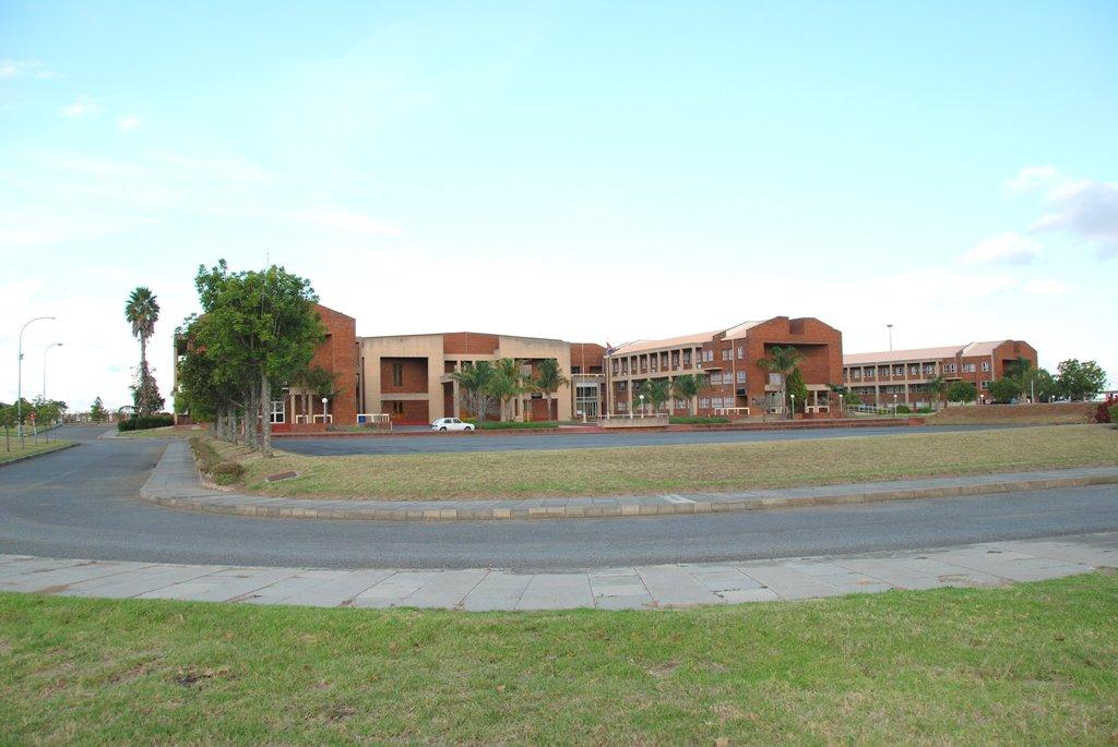 Front view of EC legislature buildings