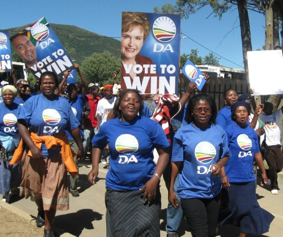 Veliswa Mvenya takes to the streets during the 2009 election campaign