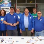 MPL Dacre Haddon and DA activists of Ward 8 in Port Elizabeth held an information table at the Ron Forlee Business Centre in Lorraine recently.