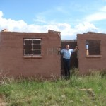 Housing spokesperson Dacre Haddon at a failed RDP project in Tarkastad.