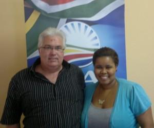 Bobby Stevenson with Lindiwe Mazibuko