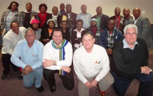 DA MPLs Edmund van Vuuren, John Cupido, Dacre Haddon, Bobby Stevenson (all in front) and Veliswa Mvenya (seated in the middle in the second row) met with councillors from the former Transkei-area recently.