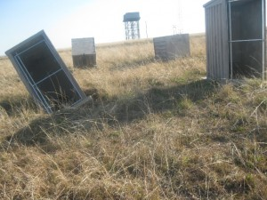 Loos stand abandoned in a field outside Dutywa