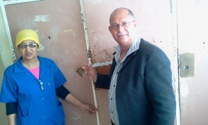 Edmund van Vuuren during a site visit this week by the Portfolio Committee on Education, to the Willowmore High School hostel, where urgent repairs are needed