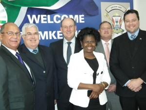 The DA caucus in the Legislature is from the left:  Edmund van Vuuren, Bobby Stevenson (Chief Whip), Athol Trollip (Legislature Leader), Veliswa Mvenya (Caucus Chairperson), Dacre Haddon and John Cupido.