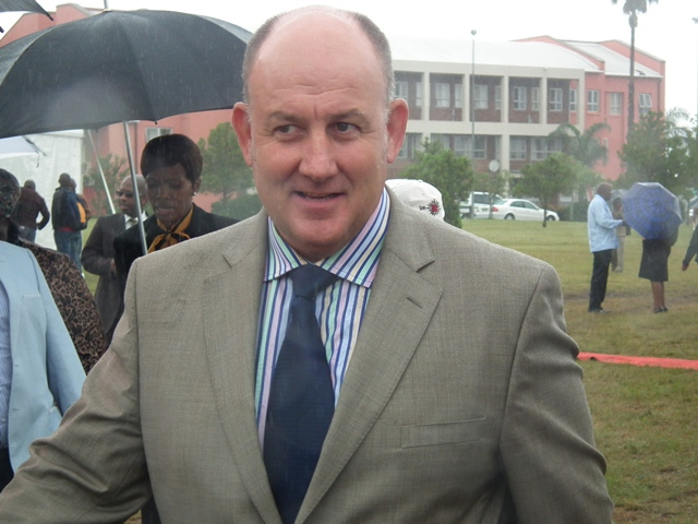 DA Leader in the Provincial Legislature, Athol Trollip, arrives at the State of the Province Address at the Bhisho Legislature on Friday.