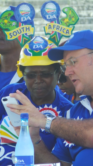 Deputy provincial leader Veliswa Mvenya and provincial leader Athol Trollip, share news on social media.