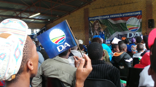 DA Federal Leader Helen Zille speaking at Needs Camp in East London on Tuesday, 1 April.