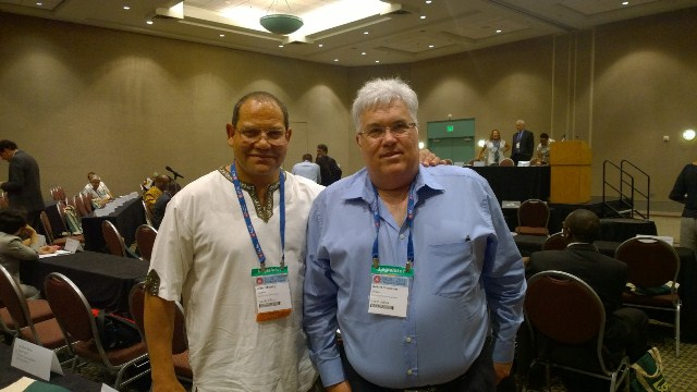 Bobby with John Moodey DA leader in Gauteng at National Conference of State Legislatures in Minneapolis.